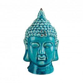 BUDDHA Hlava dekorační - tyrkysová