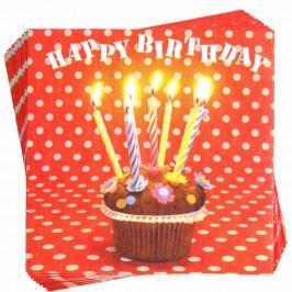 APRÉS Papírové ubrousky narozeninový muffin