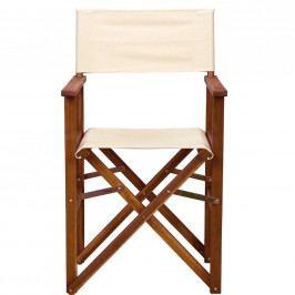 HOLLYWOOD Režisérská židle - krémová