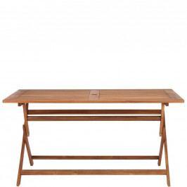 SOMERSET Skládací stůl s otvorem pro slunečník