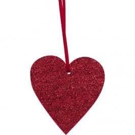 HAPPY GIFT Srdce se třpytkami k zavěšení