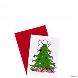 PEANUTS Mini přání Snoopy na stromku