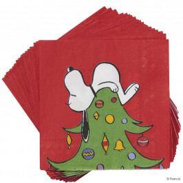 PEANUTS Papírové ubrousky Snoopy na stromě