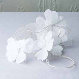 BLOSSOM Květinová girlanda 3 m - bílá