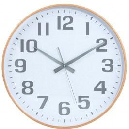 TIMBER TIME Nástěnné hodiny - bílá