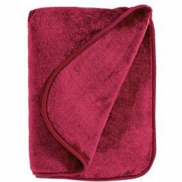 HUGS & KISSES Flísová deka - červená