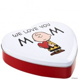 PEANUTS Dóza srdce We love you Mom