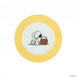 PEANUTS Talíř Snoopy a Velikonoce - žlutá