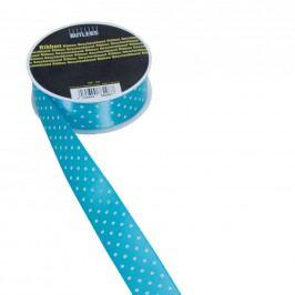 RIBBON Stužka puntík 25mm x 3m - modrobílá