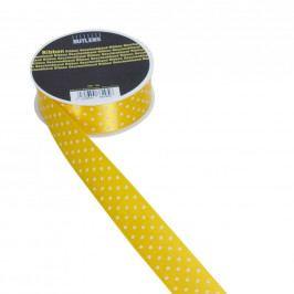 RIBBON Stužka puntík 25mm x 3m - žlutobílá