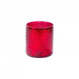 DELIGHT Svícen na čaj. svíčku 8cm - červená