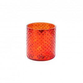 DELIGHT Svícen na čaj. svíčku 8cm - oranžová