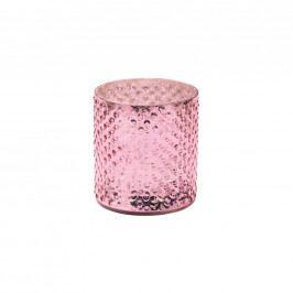 DELIGHT Svícen na čaj. svíčku 8cm - růžová