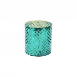 DELIGHT Svícen na čaj. svíčku 8cm - tyrkysová