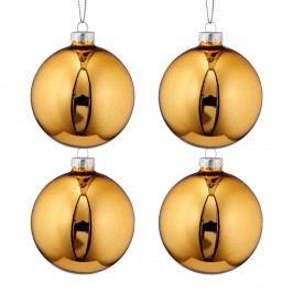 HANG ON Vánoční ozdoby set 4ks - zlatá