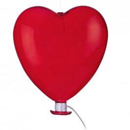 DREAMLAND Skleněný balón srdce 15 cm - červená