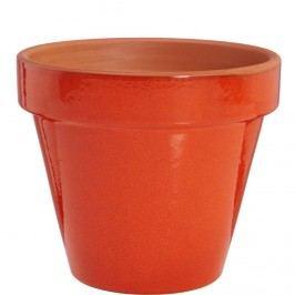 GLAZE Květináč 20 cm - červená