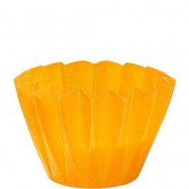 PLISSÉ Venkovní svíčka v misce - žlutá