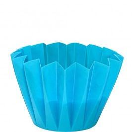 PLISSÉ Venkovní svíčka v misce - modrá