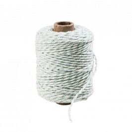 COTTON TWIST Provázek 50 m - zelená/bílá