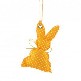 EASTER Ozdoba zajíc - žlutá