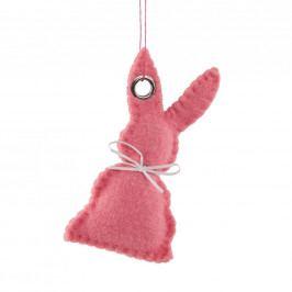 EASTER Filcová ozdoba zajíc - růžová
