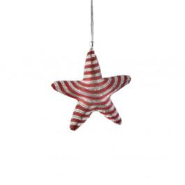 HANG ON Vánoční ozdoba cukrová hůlka hvězda