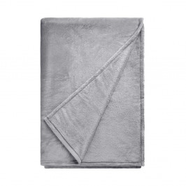 LAZY DAYS Flísová deka - šedá