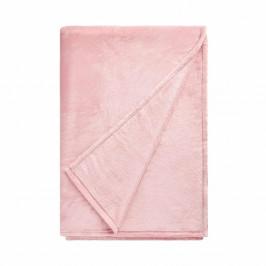 LAZY DAYS Flísová deka - sv. růžová