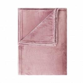 LAZY DAYS Flísová deka 200 x 150 cm - sv. růžová