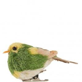 SUMMER BIRDS Ptáček s klipem - zelená