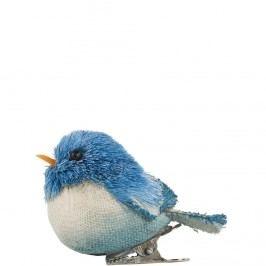 SUMMER BIRDS Ptáček s klipem - modrá