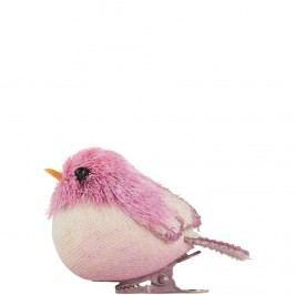 SUMMER BIRDS Ptáček s klipem - růžová