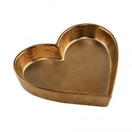 GOLDEN GLAM Mísa dekorační srdce