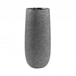 ASTRID Keramická váza 38 cm - stříbrná