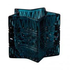 STARLIGHT Svícen na čajovou svíčku 8 cm - petrolejová