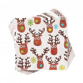 Vánoční papírové ubrousky Rudolf