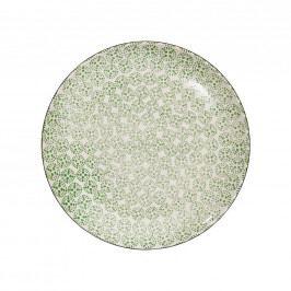 RETRO Jídelní talíř - zelená