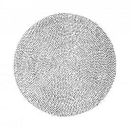 SHINE Prostírání korálky 32 cm - stříbrná