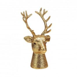 X-MAS Hlava jelena 16 cm - zlatá