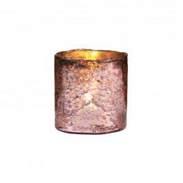 DELIGHT Skleněný votivní svícen 8 cm - růžová