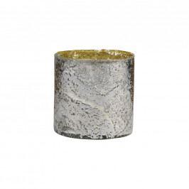 DELIGHT Skleněný votivní svícen 8 cm - stříbrná