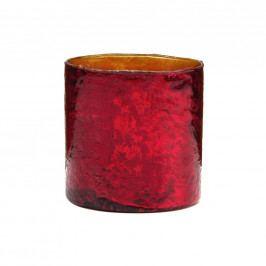 DELIGHT Skleněný votivní svícen 10 cm - červená