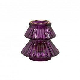 YULE Svícen stromek 10,5 cm - sv. fialová
