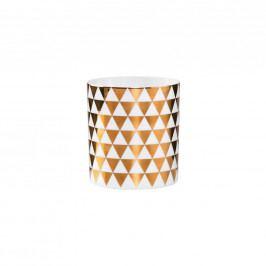 DELIGHT Votivní svícen se zlatými trojúhelníky 7 cm