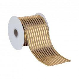 RIBBON Dárková stuha zlaté proužky 3 m