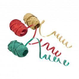 RIBBON Stužky, set 3 ks - červená/zelená/zlatá