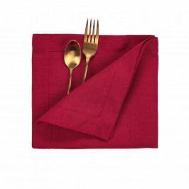 PLAIN & NOBLE Ubrousek 45 x 45 cm - červená