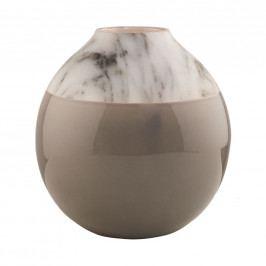 MARBELLO Váza mramorový vzhled - šedá
