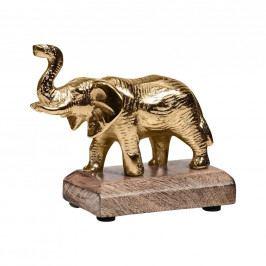 GOLDEN NATURE Dekorační slon na podstavci